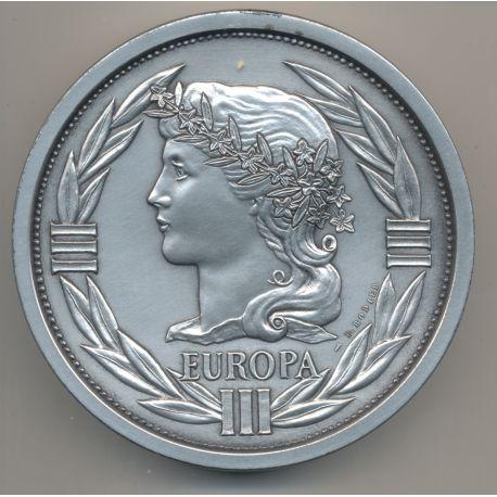 Spectaculaire Presse Papier - Écu 1992 CERES - bronze argenté - 800g