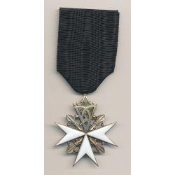 Malte - Ordre de St Jean de Jerusalem - croix dont de dévotion - 3e classe