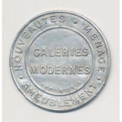 Timbre-monnaie - 10 Centimes rouge sur fond bleu - Galeries modernes