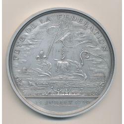 Médaille - Fête de la fédération - 14 juillet 1790 - Bicentenaire de la révolution Française