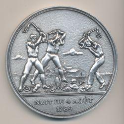 Médaille - Nuit du 4 aout 1789 - Bicentenaire de la révolution Française