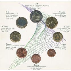 Monnaie Fautée - Coffret BU Euro Slovénie 2007 - 1 Euro Fauté Flan vierge