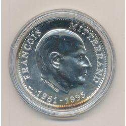 Médaille - François Mitterand - Président de la République - 1981/1995 - argent