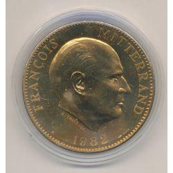 Médaille - François mitterand - 1982 - bronze