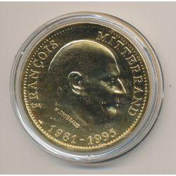 Médaille - François mitterand - 1981-1995 - bronze
