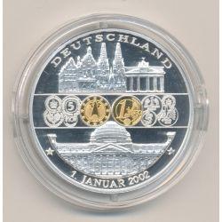Médaille - Allemagne/Deutschland - 1 janvier 2002 - 1ère émission de l'euro