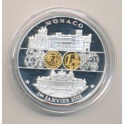 Médaille - Monaco - 1 janvier 2002 - 1ère émission de l'euro