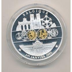 Médaille - Belgique - 1 janvier 2002 - 1ère émission de l'euro