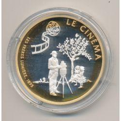 Médaille - Le Cinéma - Les frères lumières 1895 - Grandeur et liberté