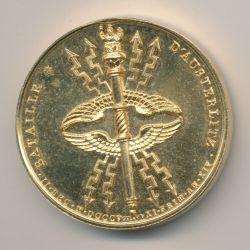 Médaille - Bataille d'Austerlitz - 1805 - refrappe - Collection Napoléon Empereur - bronze