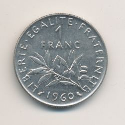 1 Franc Semeuse - 1960 - nickel