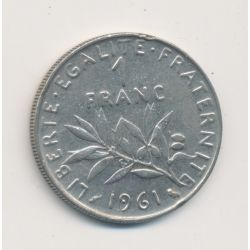 1 Franc Semeuse - 1961 - nickel