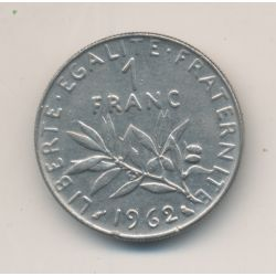 1 Franc Semeuse - 1962 - nickel