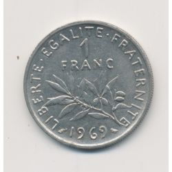 1 Franc Semeuse - 1969 - nickel