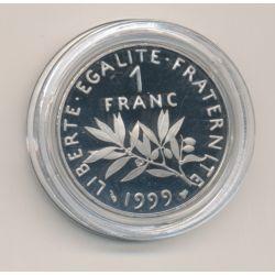 1 Franc Semeuse - 1999 - nickel - Belle épreuve