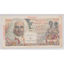 Billet - Antilles Françaises - 1NF sur 100 Francs - La Bourdonnais - ND1960