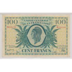 Billet - 100 Francs - Reunion - Caisse centrale de la France libre