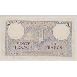 Billet - 20 Francs - 1.03.1945 - Maroc