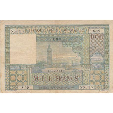 Billet - 1000 Francs - 15.11.1956 - Maroc
