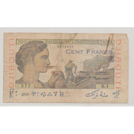 Billet - 100 Francs - ND 1946 - Djibouti - Banque de l'Indochine