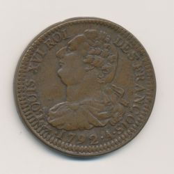 Louis XVI - 2 Sols 1792 A Paris - frappe large - bronze