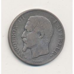 Napoléon III - Tête nue - 2 Francs - 1856 BB Strasbourg
