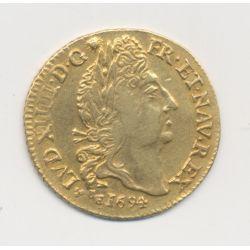Louis XIV - Louis d'or aux 4L - 1694 H La Rochelle