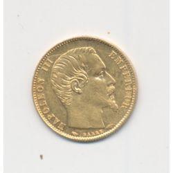 Napoléon III Tête nue - 5 Francs Or Petit module - 1855 A Paris