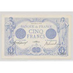 5 Francs Bleu - 18.04.1914