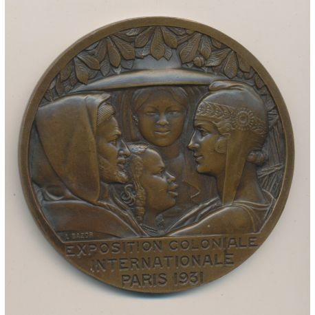Médaille - Exposition coloniale internationale Paris - 1931 - bronze