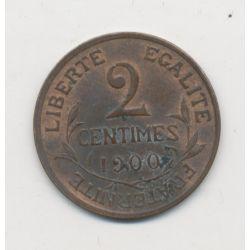 2 centimes Dupuis - 1900