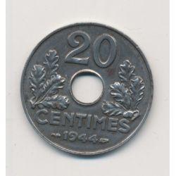 20 centimes - Etat Français - 1944 - fer