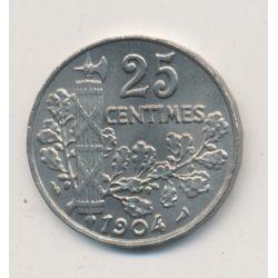 Patey - 25 centimes - 1904 - 2e type