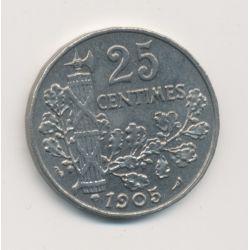 Patey - 25 centimes - 1905 - 2e type