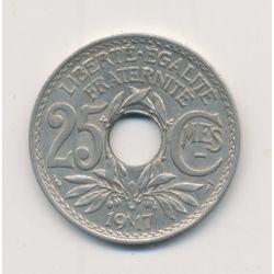25 centimes Lindauer - 1917 souligné