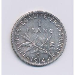 1 Franc Semeuse - 1914 C Castelsarrasin- argent