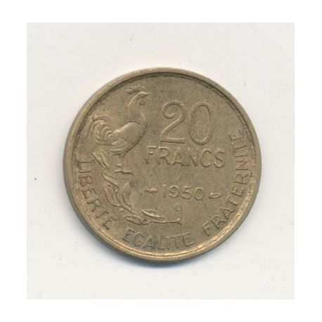 20 Francs Georges Guiraud - 1950 B - 4 plumes