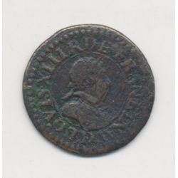Louis XIII - Double tournois - 1618 D Lyon