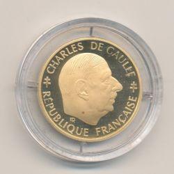 1 Franc De Gaulle 1988 Or