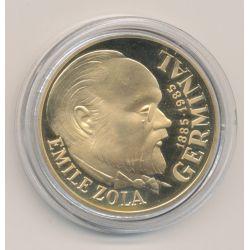 100 Francs Or - 1985 - Emile Zola - Germinal