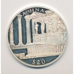 Libéria - 20 Dollars 2000 - Aohna/Athenes - argent BE