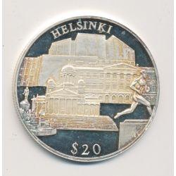 Libéria - 20 Dollars 2000 - Helsinki - argent BE