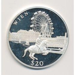 Libéria - 20 Dollars 2000 - Wien/Vienne - argent BE