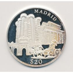 Libéria - 20 Dollars 2000 - Madrid - argent BE