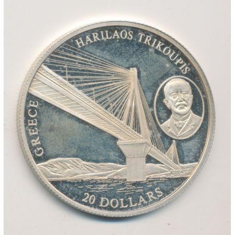 Libéria - 20 Dollars 2004 - Greece/Harilaos trikoupis - argent BE