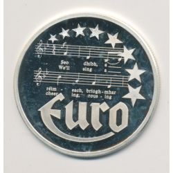 10 Euro Europa - 1997 - Irlande - Partition musique - argent