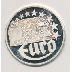 10 Euro Europa - 1997 - Italie - Billet 5000 Lire - argent