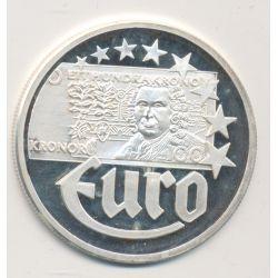 10 Euro Europa - 1997 - Suède - billet 100 kronor - argent