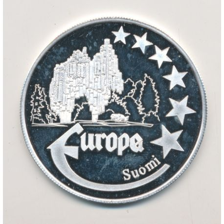 Medaille Europa - 1998 - Finlande - Monuments - argent