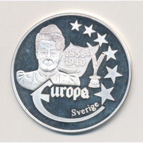 Medaille Europa - 1999 - Suède - Collection Écrivains - argent